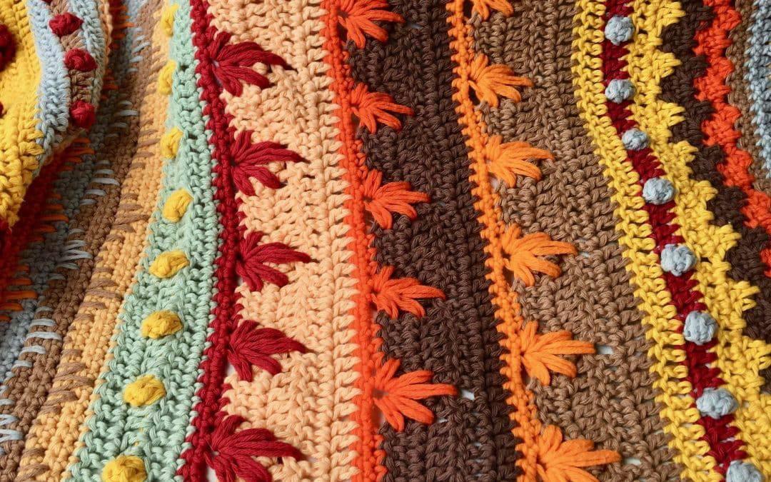 Stitch Sampler Autumn Rhapsody Blanket CAL Part 4 free crochet pattern
