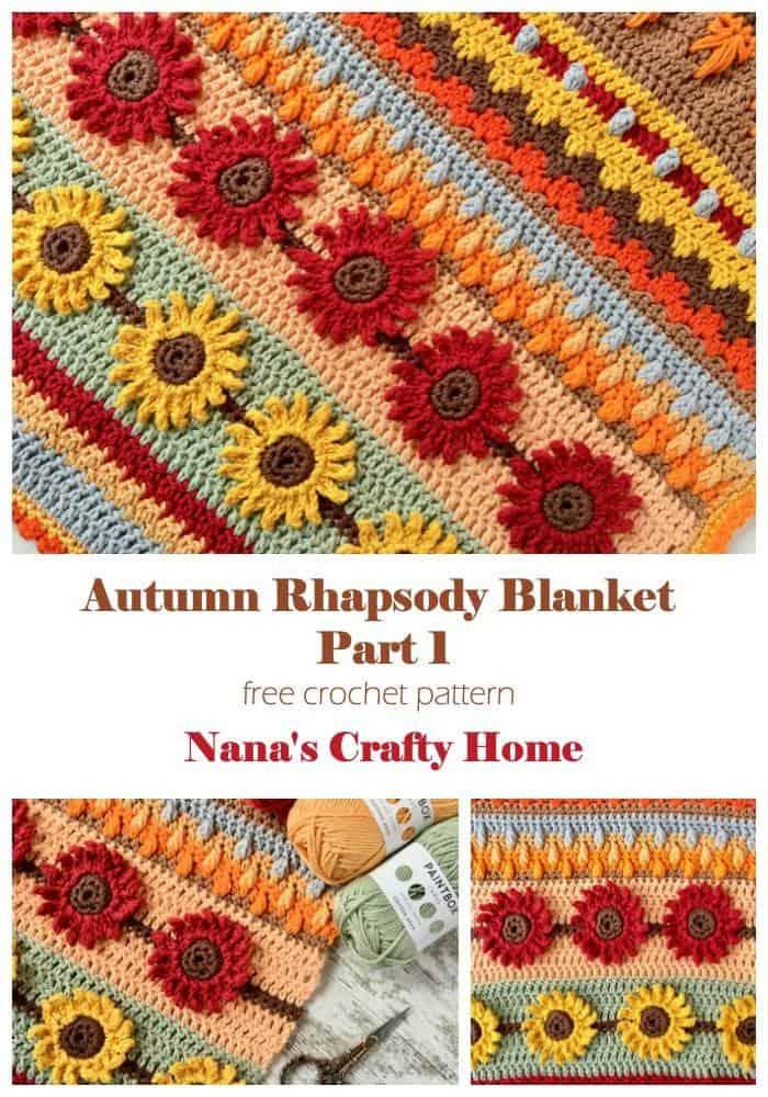 Autumn Rhapsody Blanket CAL Part 1 Free Crochet Pattern