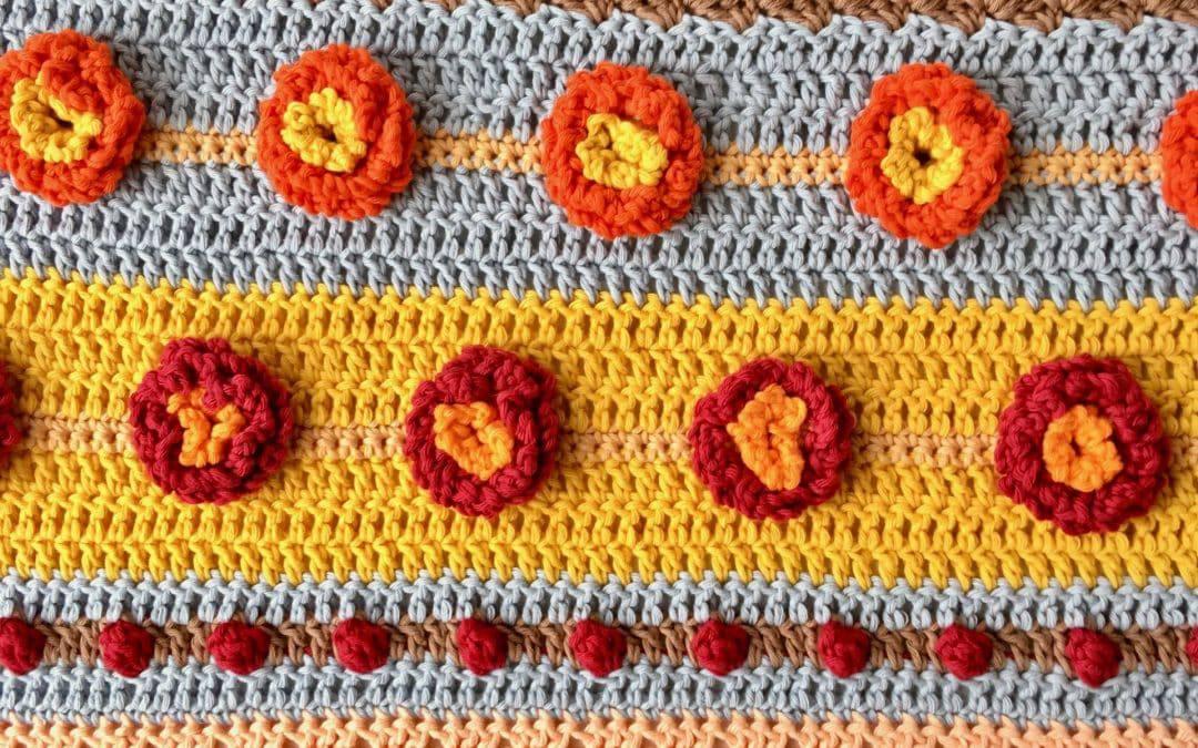 Stitch Sampler Autumn Rhapsody Blanket CAL Part 3 Free Crochet Pattern