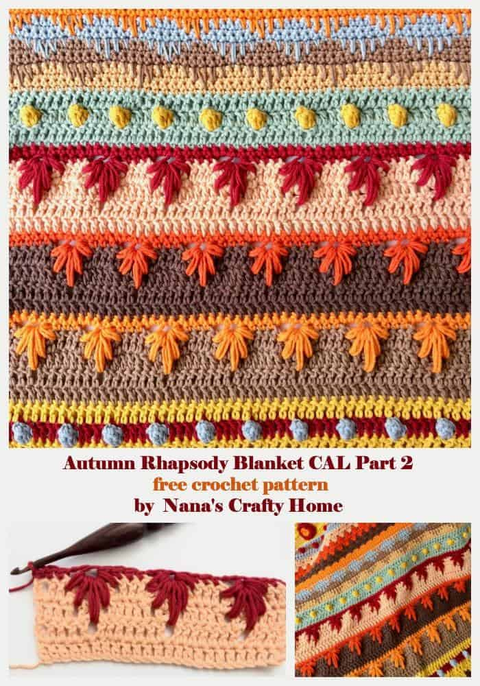 Autumn Rhapsody Blanket CAL Part 2 Free Crochet Pattern