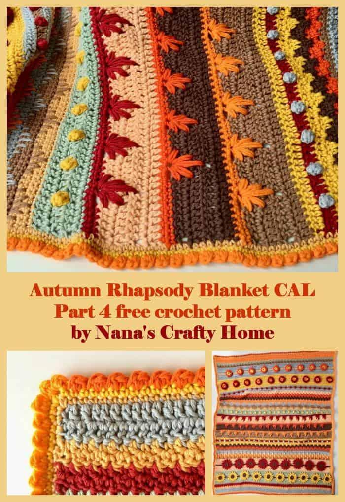Stitch Sampler Autumn Rhapsody Blanket Crochet a Long Part 4
