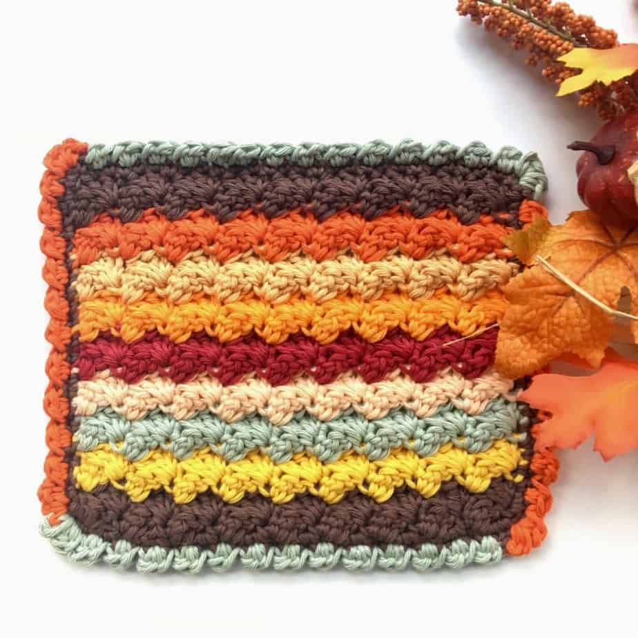 Bobble Shell Stitch Border Crochet Photo and Video Tutorial