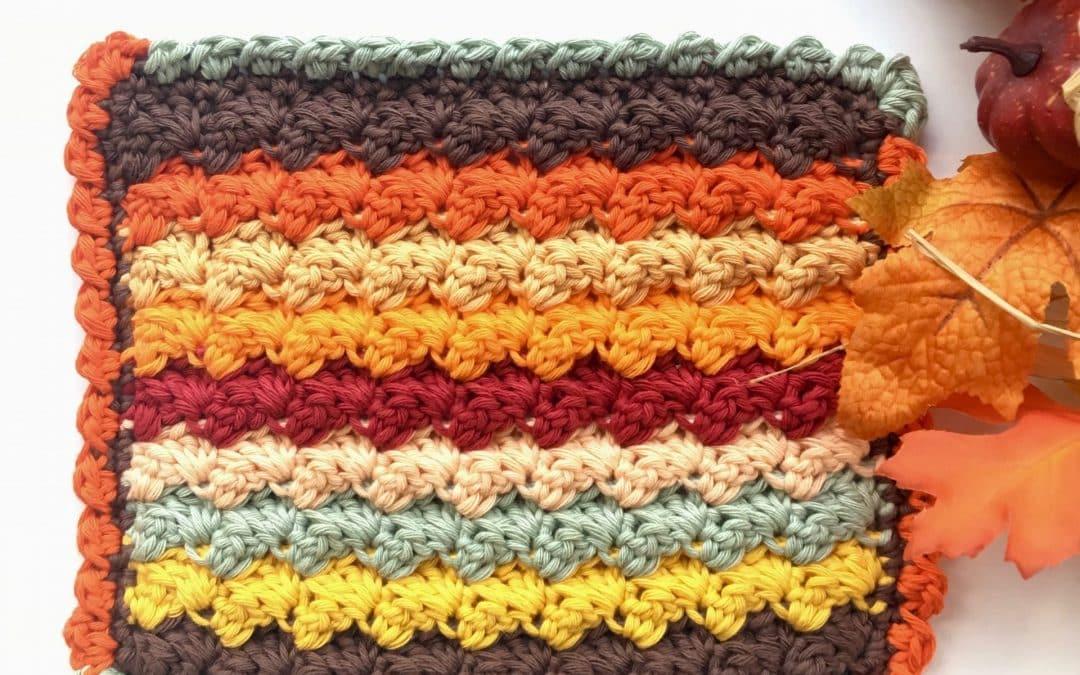 Bobble Shell Stitch Crochet Border Photo & Video Tutorial