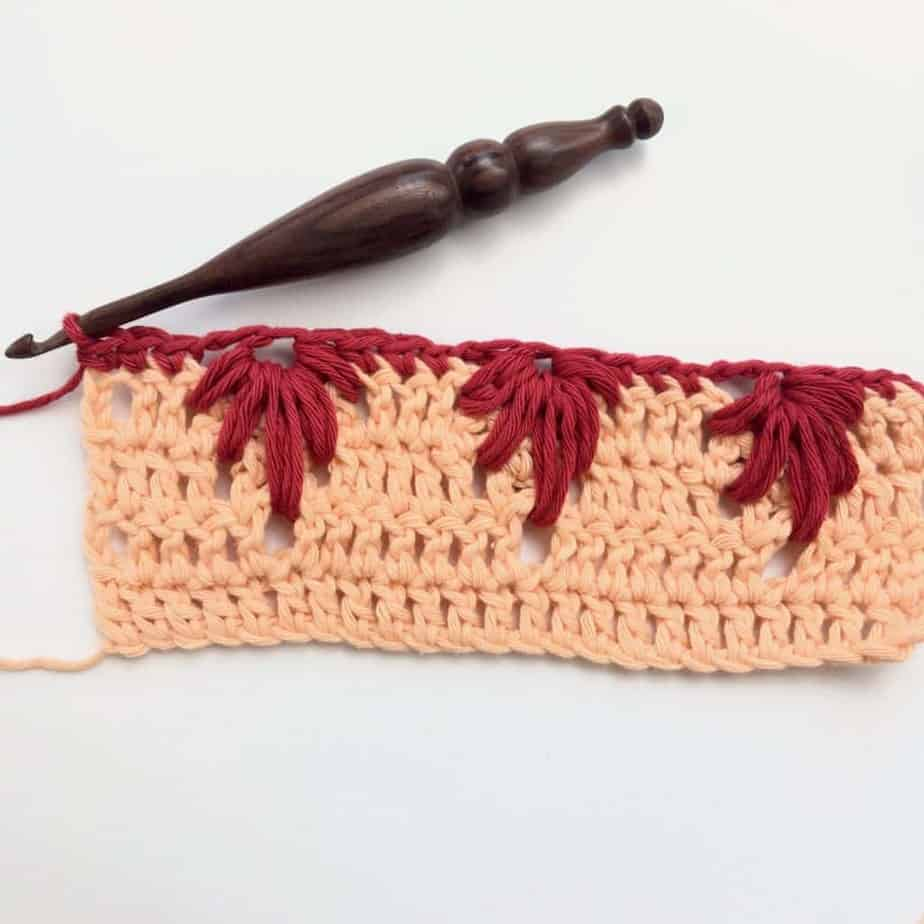 Extreme Drop Leaf Stitch Crochet Photo Video Tutorial