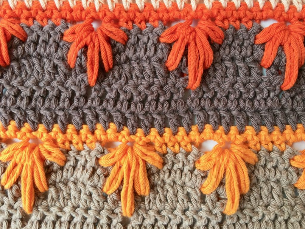 Extreme Drop Crochet Leaf Stitch Photo & Video Tutorial