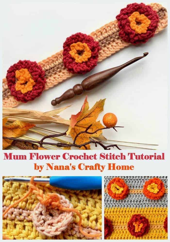 Flower Mum Crochet Stitch Photo & Video Tutorial