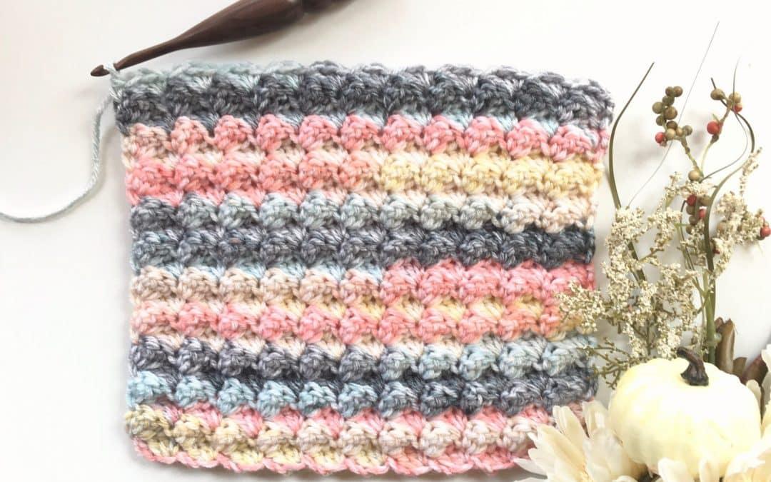 Sedge Crochet Stitch Photo & Video Tutorial