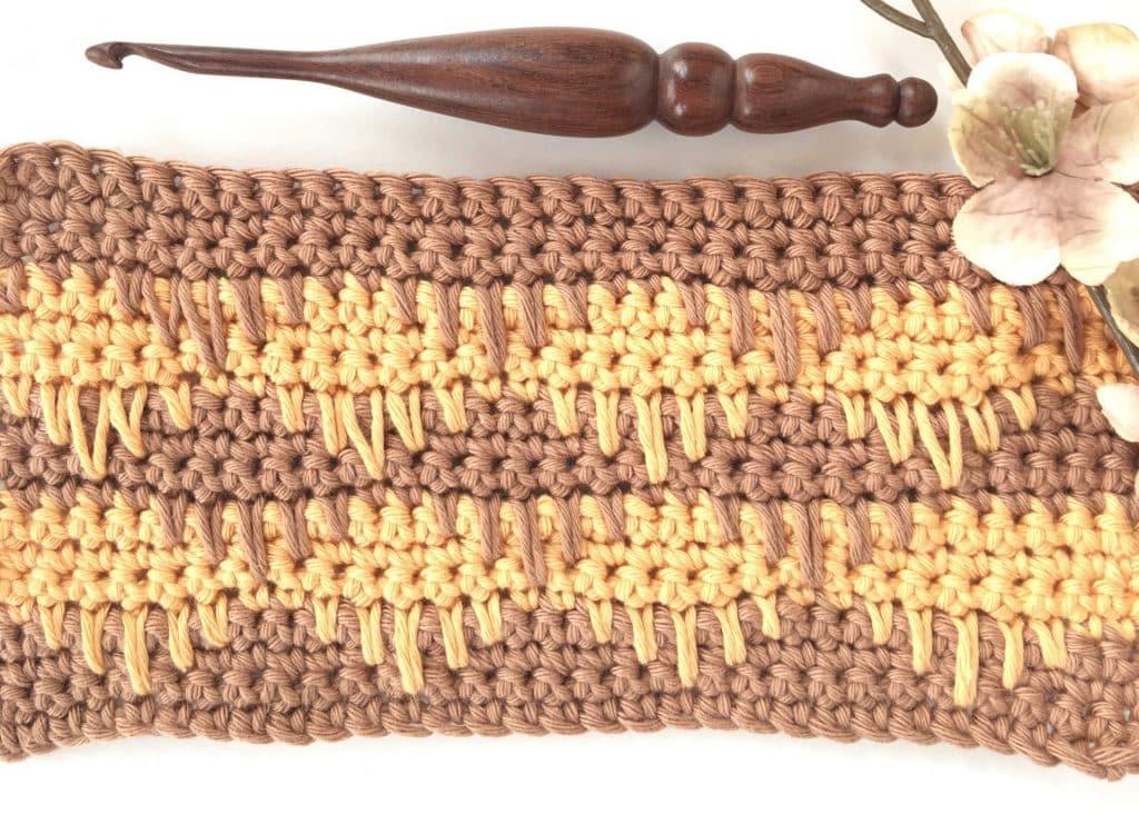Single Crochet Spike Stitch Photo & Video Tutorial