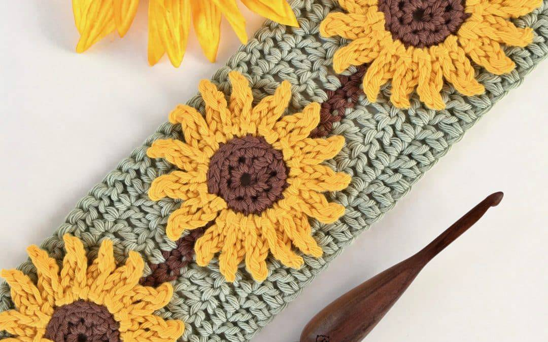 Sunflower Crochet Stitch Photo and Video Tutorial
