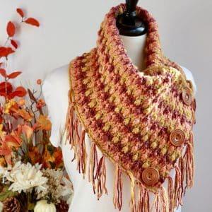Falling Leaves Cowl free crochet pattern