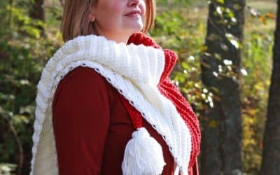 Harvest Herringbone Color Block Triangle Scarf free crochet pattern video tutorial