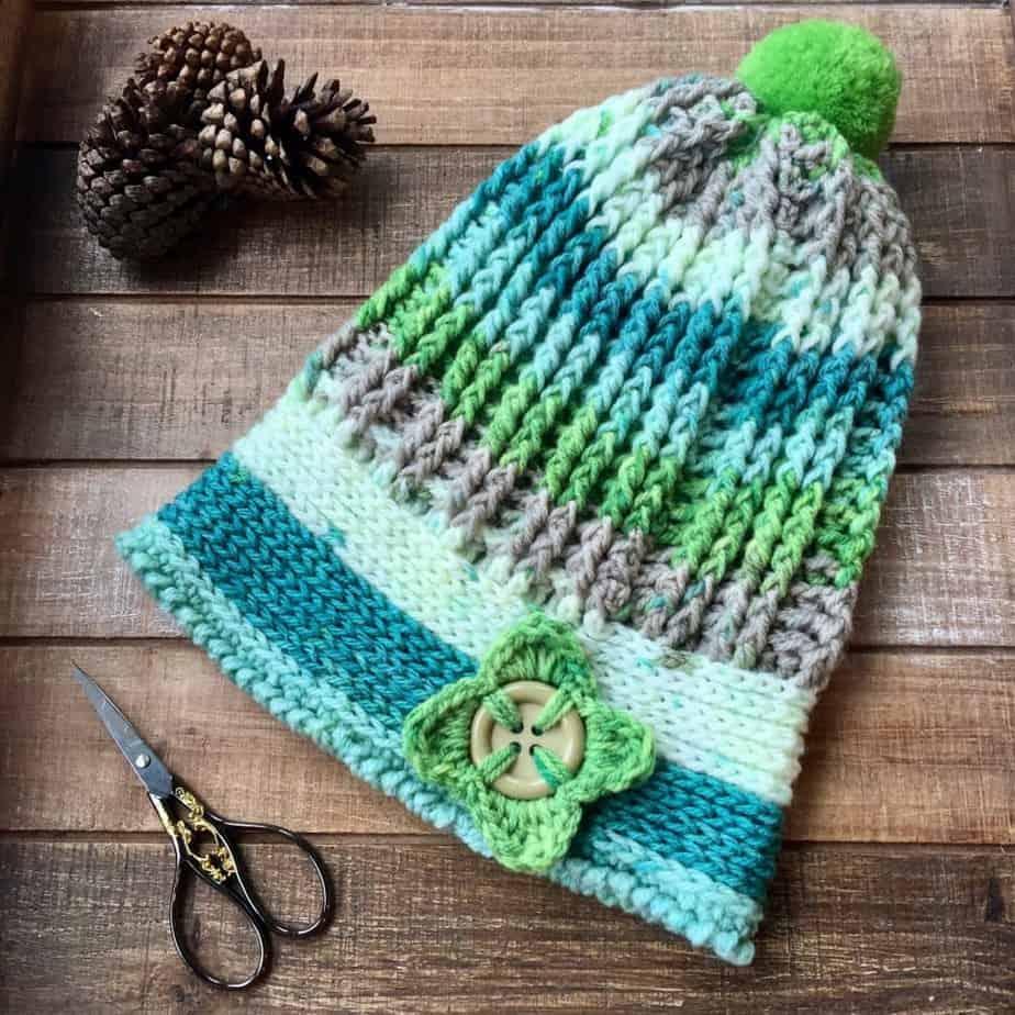 Caron Cupcake Free crochet hat pattern