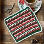 Any Holiday Christmas Dishcloth free crochet pattern