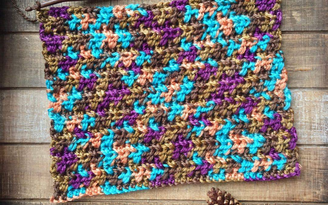 Crossed Half Double Crochet Stitch Video Tutorial
