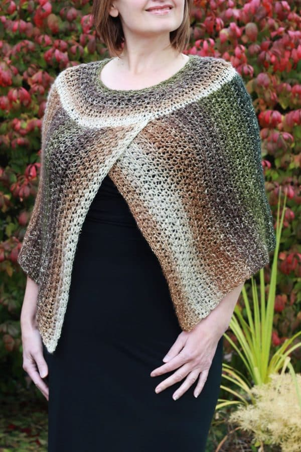 Crochet Easy Chic Cape Poncho free pattern