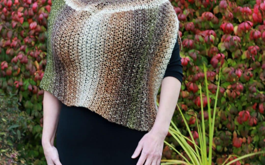 Crochet Chic Cape Poncho Beginner Friendly pattern that looks Knit!