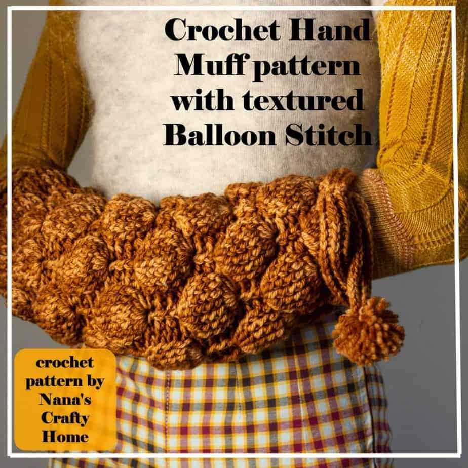 Balloon Stitch Crochet Hand Muff Pattern Embrace