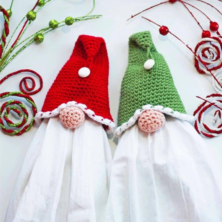 Gnome Towel Topper Free Crochet Pattern