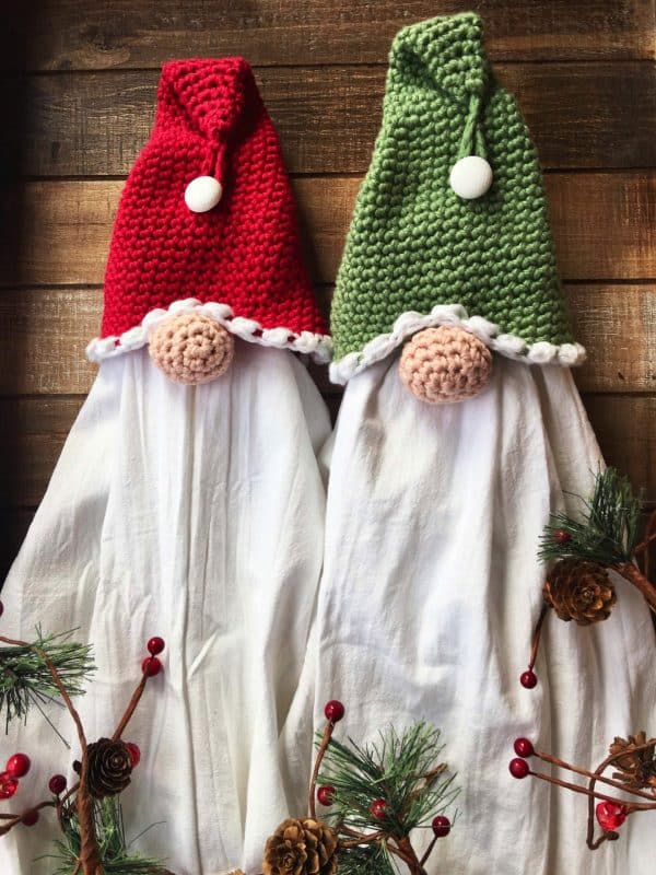Santa Gnome Crochet Towel Topper Video Tutorial