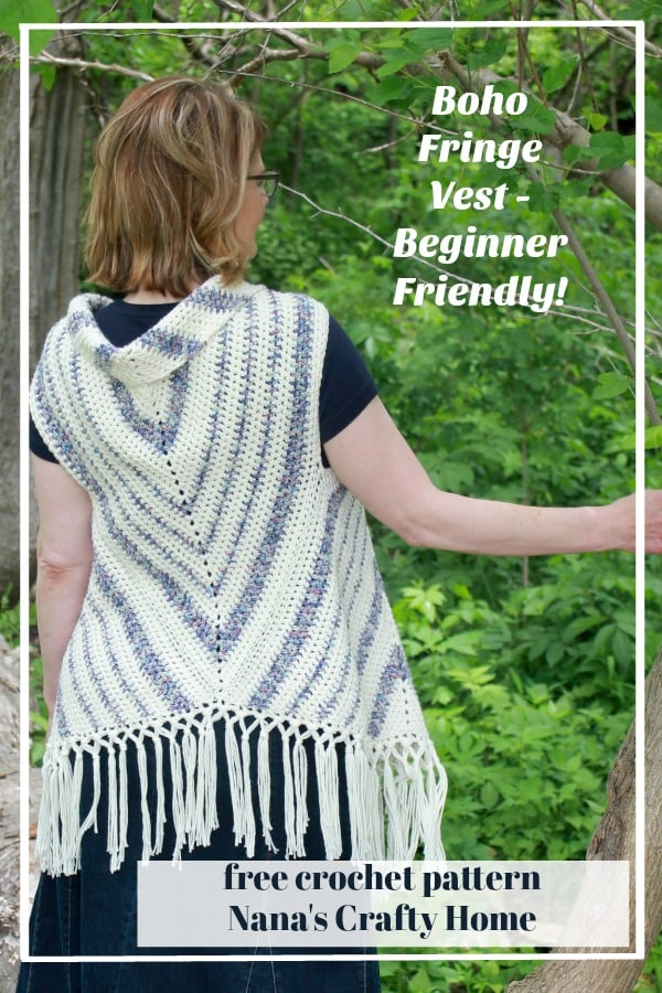 Boho Fringe Crochet Vest Beginner Free Pattern