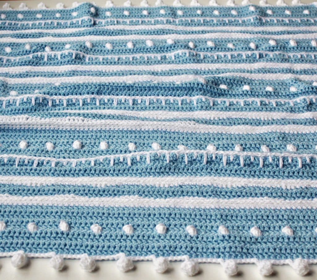 Stitch Sampler Winter themed blanket free crochet pattern