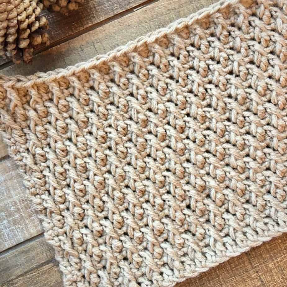 Learn to crochet the Alpine Stitch Tutorial