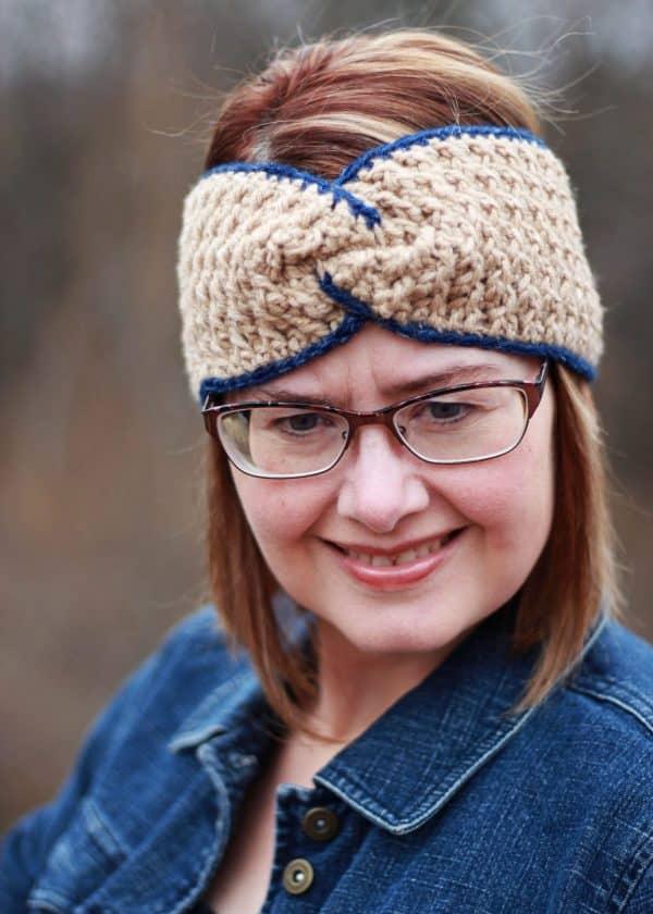 Easy Twist Head Band Ear Warmer free crochet pattern