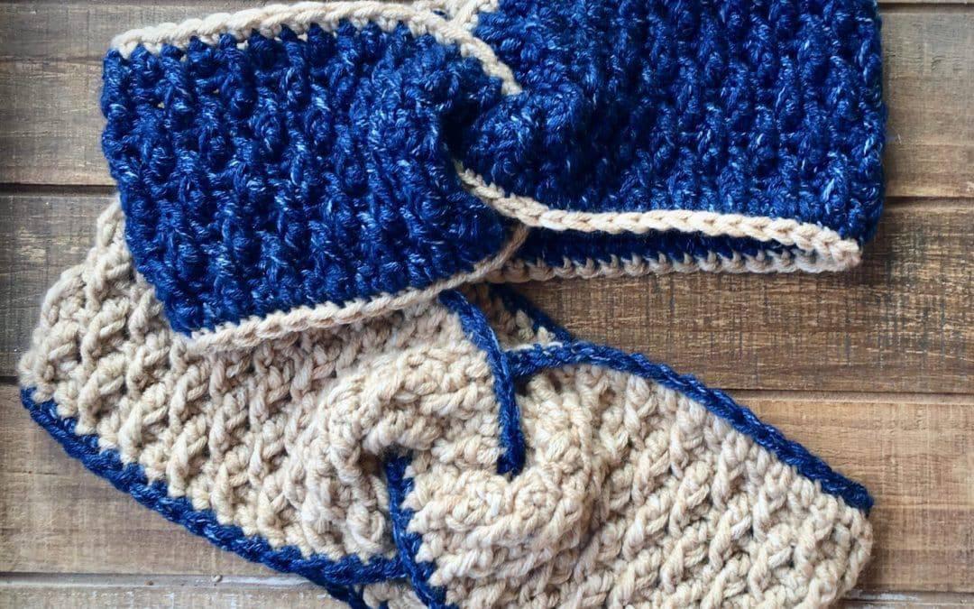 Easy Twist Headband Ear Warmer free crochet pattern Alpine Twist Head Wrap
