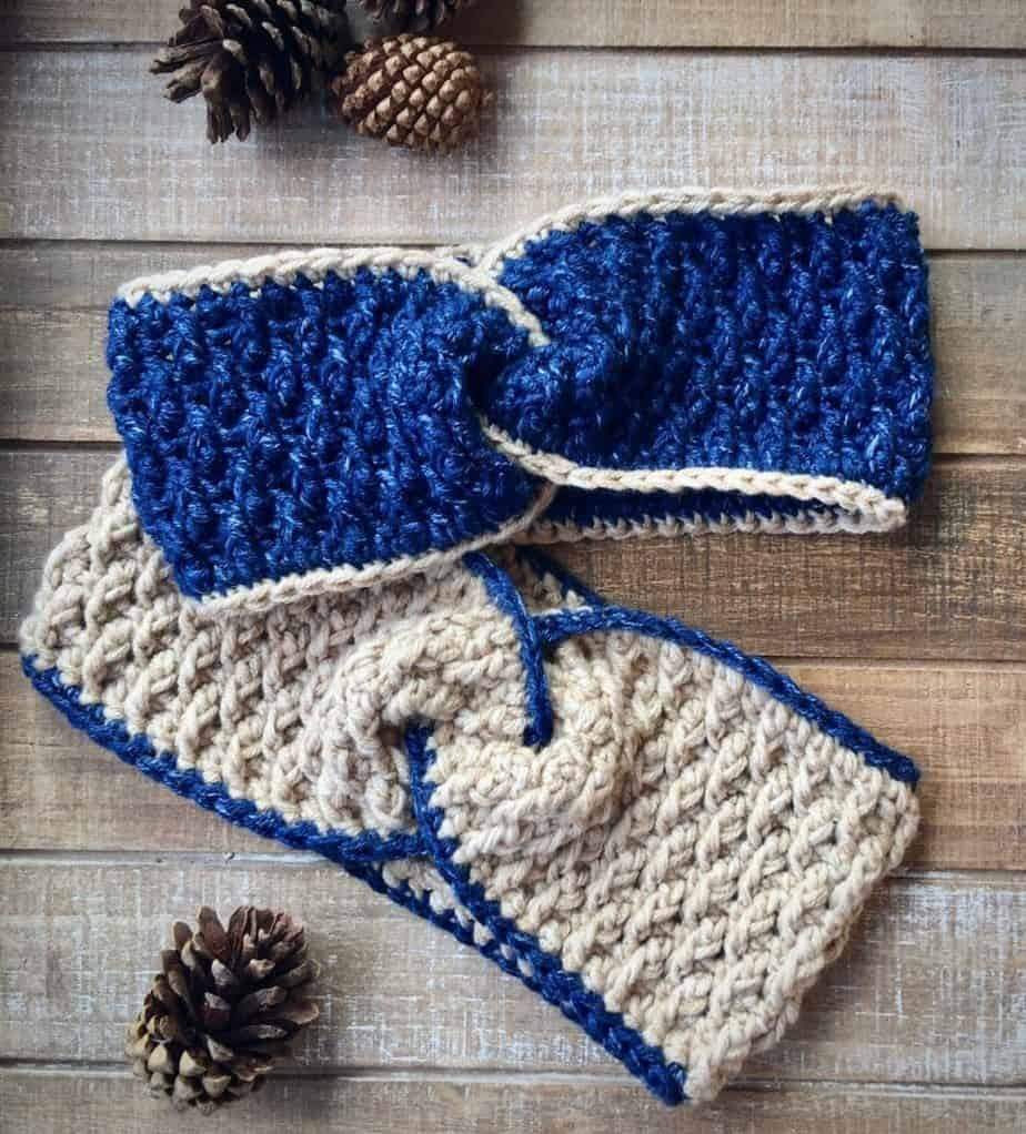 Easy Twist Head Band Ear Warmer free crochet pattern
