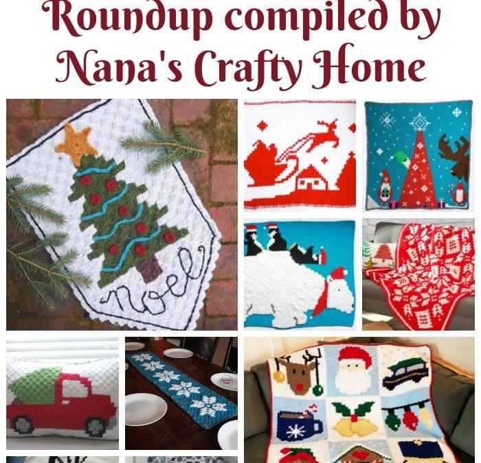 Free C2C Christmas crochet pattern roundup