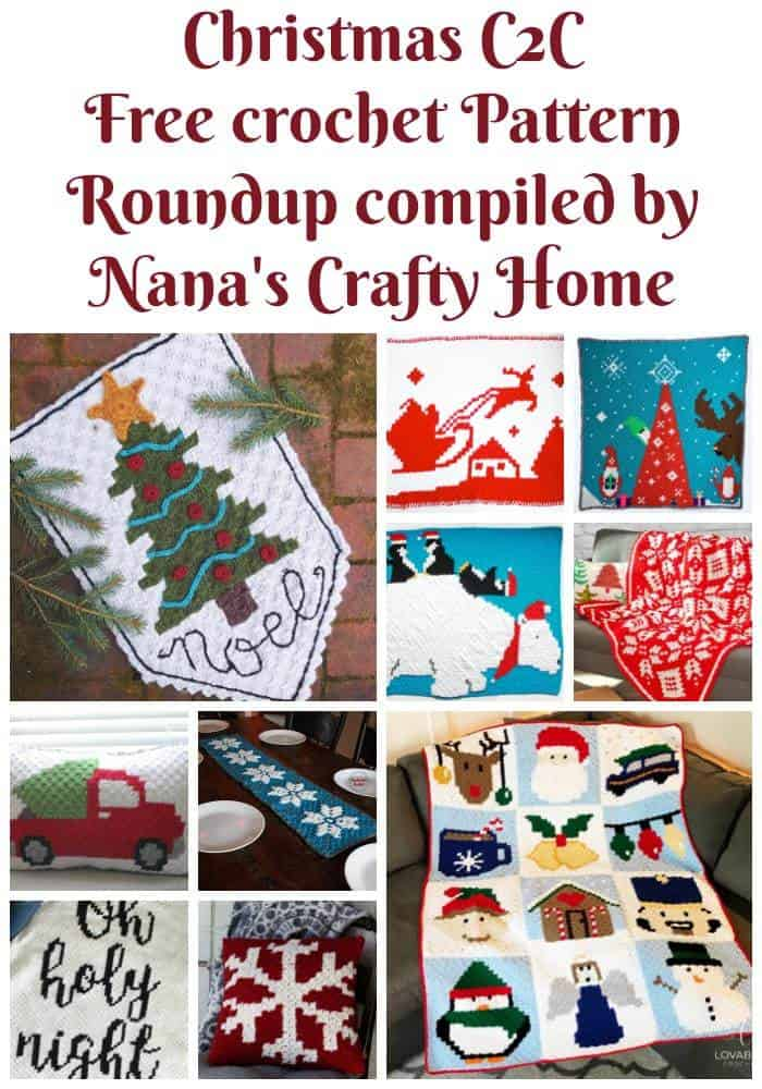 Christmas C2C Free Crochet Pattern Roundup