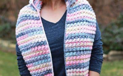 Easy Scoodie Pocket Scarf free crochet pattern Fairy Tale Scarf