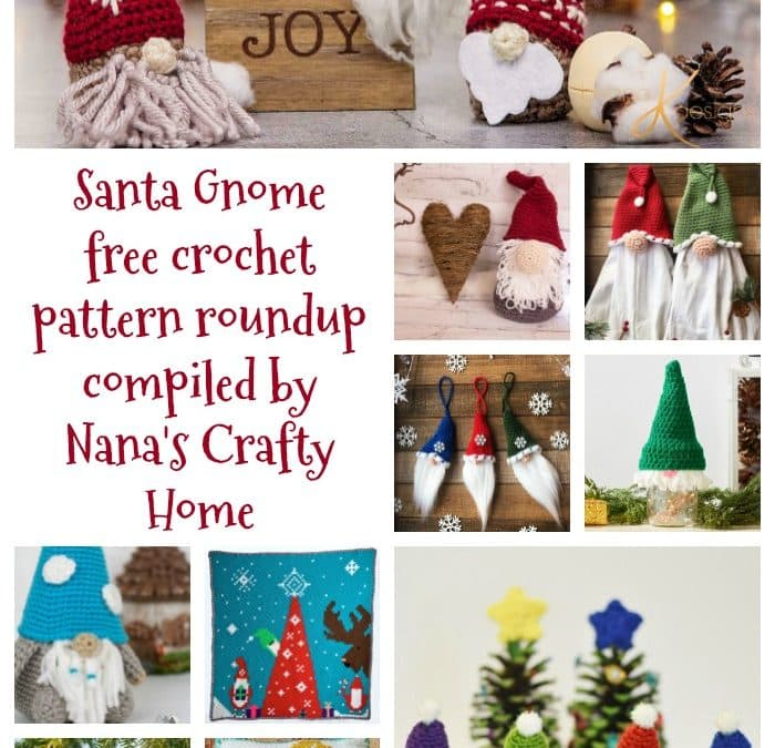 Gnome Santa Free Crochet Pattern Roundup