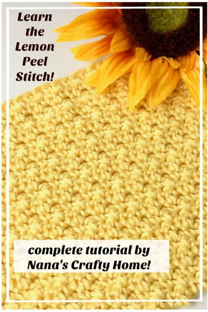 Lemon Peel Crochet Stitch Photo & Video Tutorial