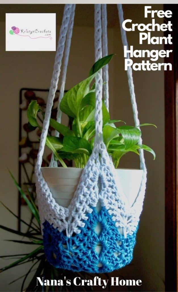 Star Plant Hanger free crochet pattern