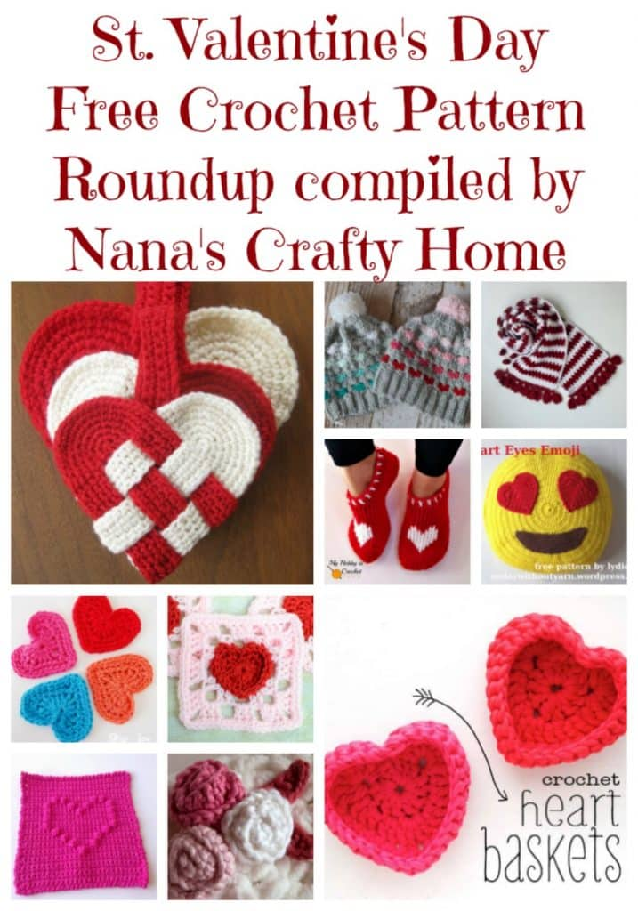 Valentines Day free crochet pattern roundup