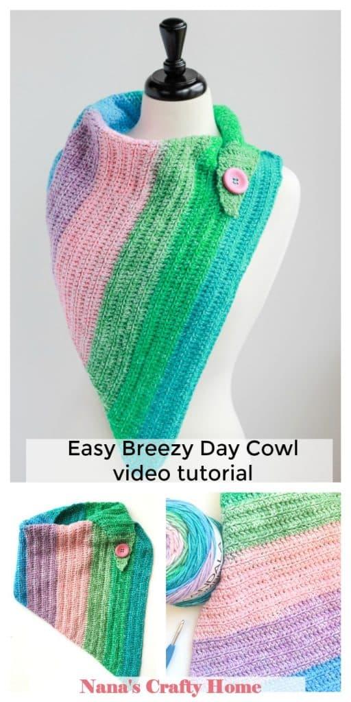 Easy crochet Cowl one skein free crochet pattern