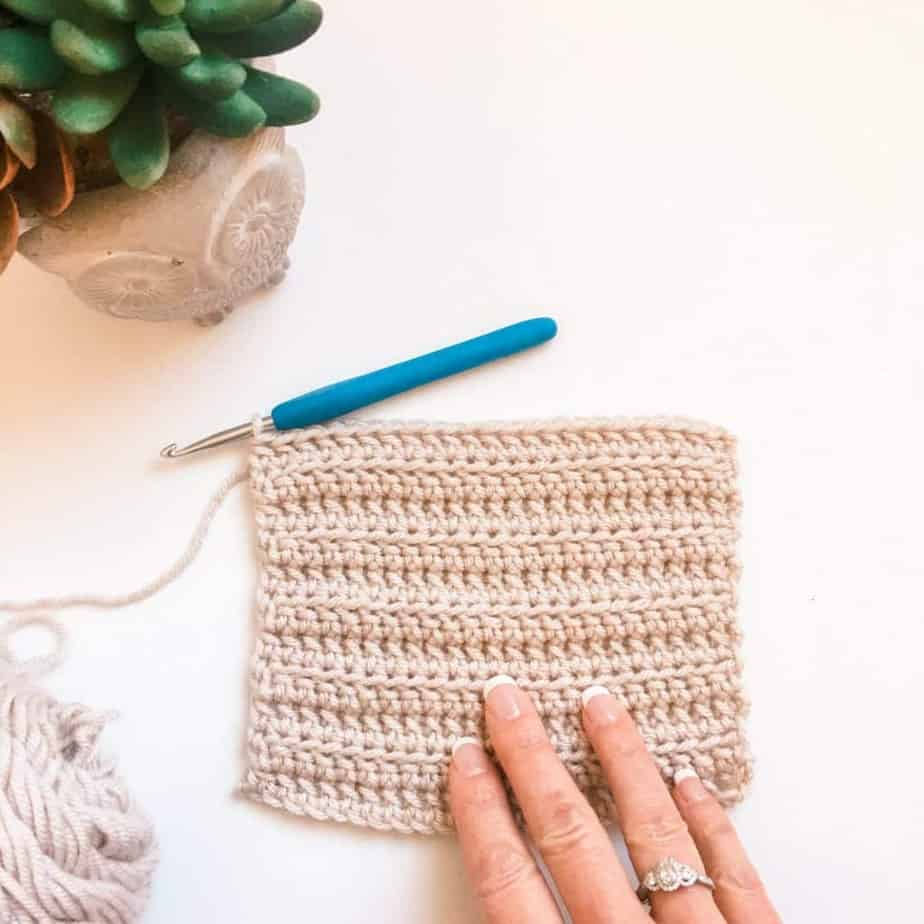 Linked half double crochet (LHDC) stitch tutorial
