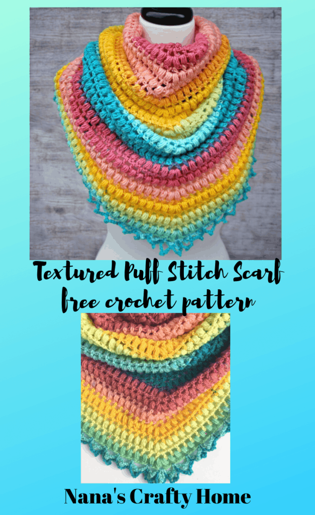 Easy Triangle Scarf free crochet pattern Spring Me Forward Scarf