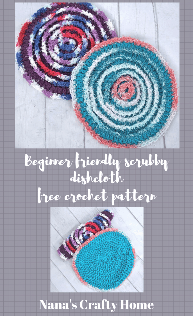 beginner crochet scrubby dishcloth free crochet pattern