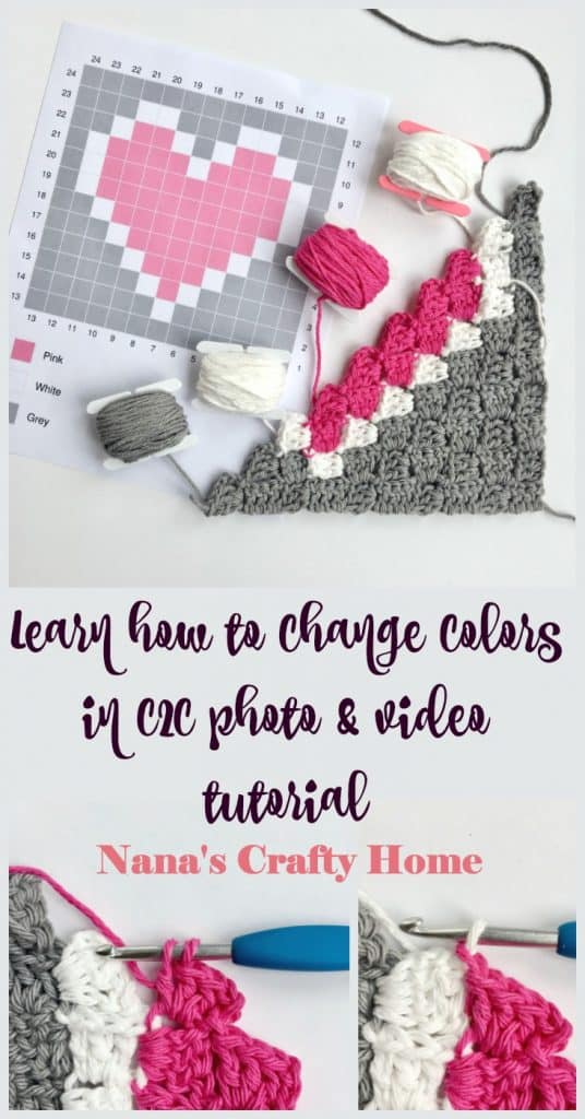Learn how to change colors in C2C corner to corner tutorial