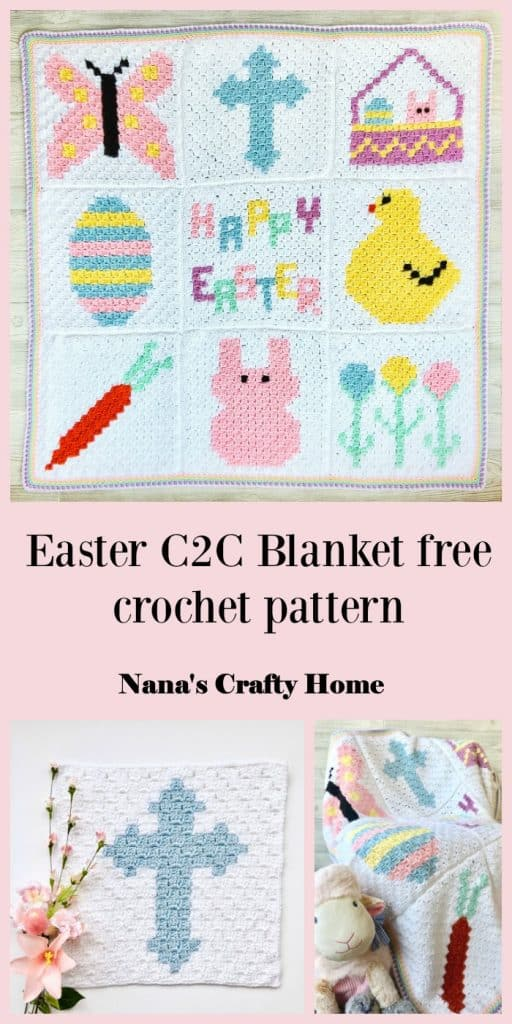 Easter C2C Blanket free crochet pattern