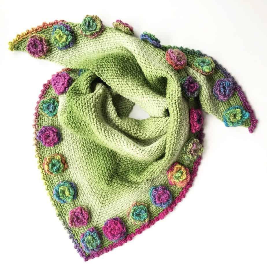 Flower Meadow Shawl free crochet video tutorial