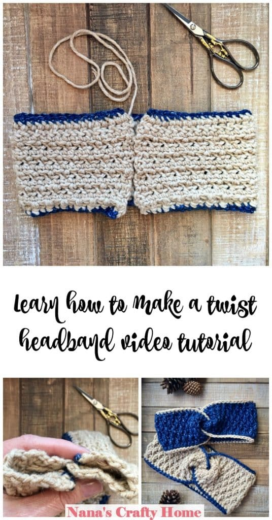 Learn how to make a twist headband video tutorial
