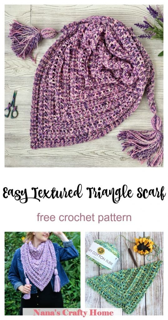 So Long Summer Crochet Triangle Scarf free crochet pattern