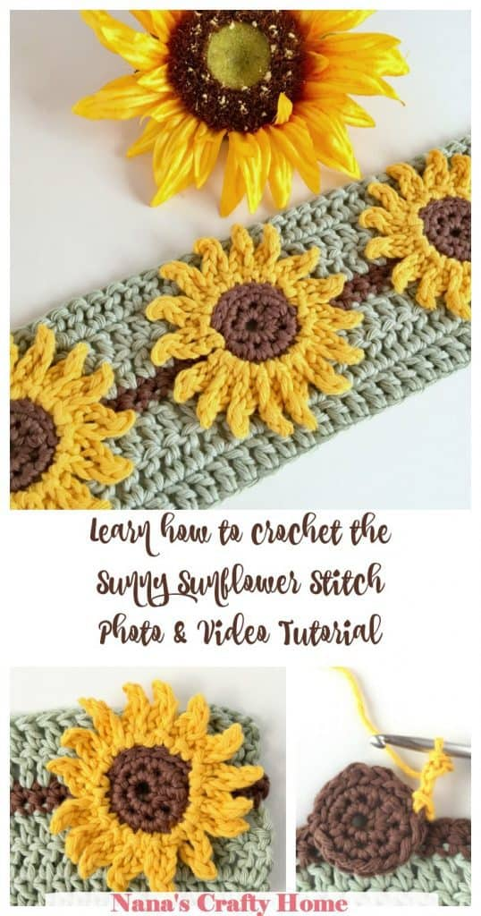 Learn how to crochet the Sunflower Crochet Stitch Video Tutorial