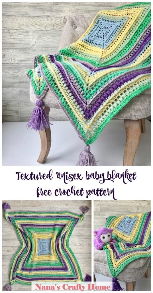 Wrap me in Sunshine Baby Blanket free crochet pattern