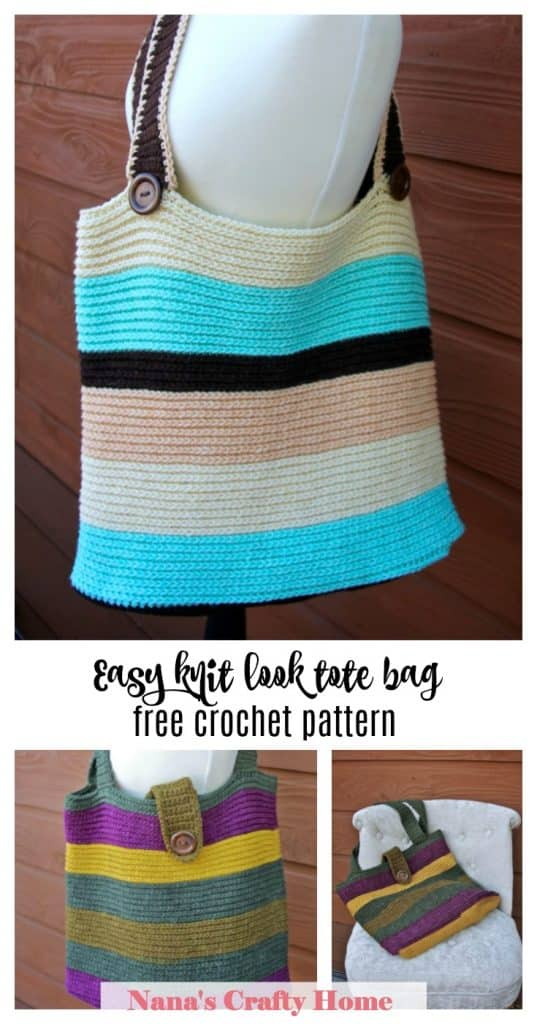 Carry Me Away Large Tote Bag free crochet pattern