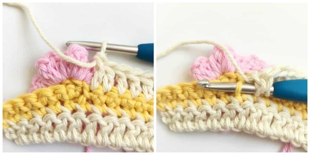 Learn how to crochet Cherry Blossom Crochet Stitch Tutorial