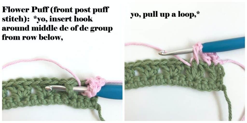 Flower Puff Stitch tutorial part 1